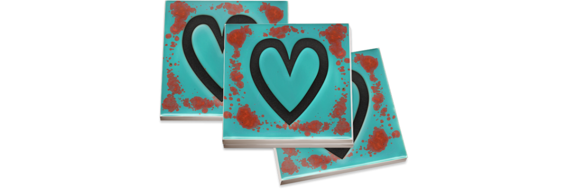 Coasters - Heart