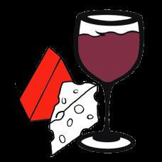 Wine Glass & 2 Cheeses