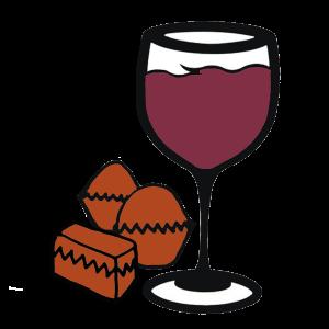 Wine Glass & Chocolate