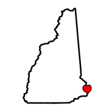 New Hampshire State with Heart
