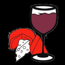 Wine Glass & 3 Cheeses