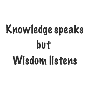 Knowledge Wisdom